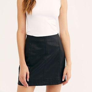 Free People Vegan Leather Mini Skirt size 0